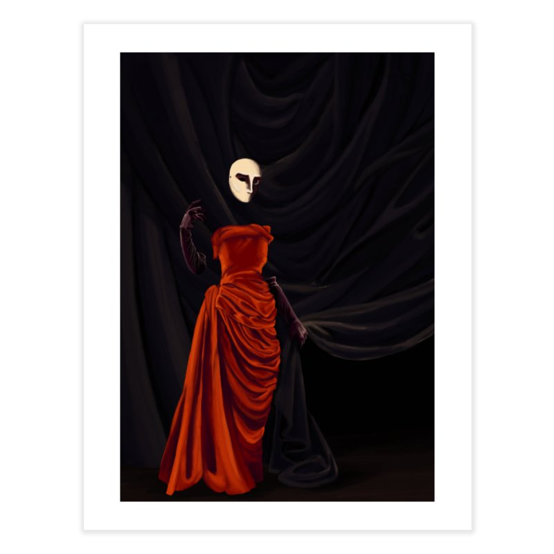 Red Dress Home Fine Art Print by Marie Angoulvant's Shop