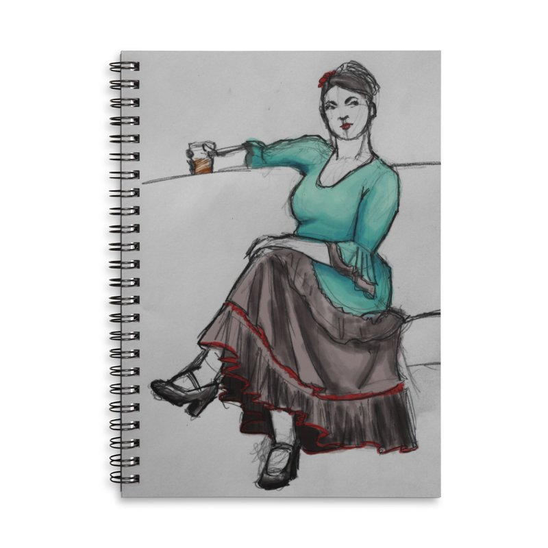 Flamenco Dancer Accessories Lined Spiral Notebook by Marie Angoulvant's Shop