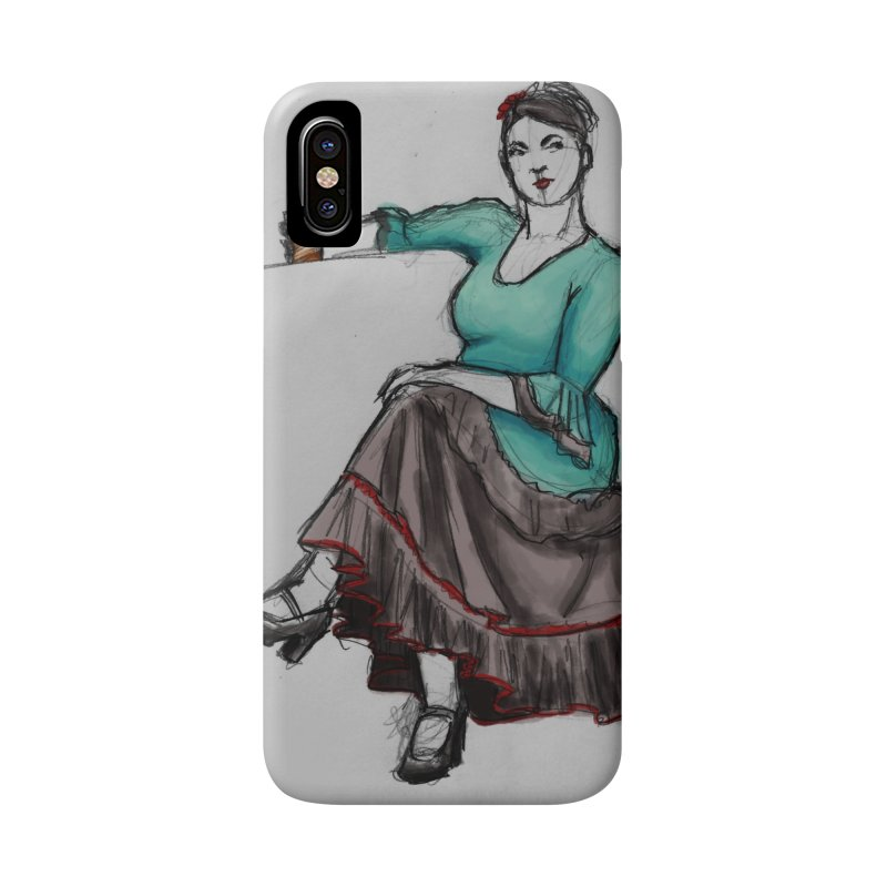 Flamenco Dancer Accessories Phone Case by Marie Angoulvant's Shop