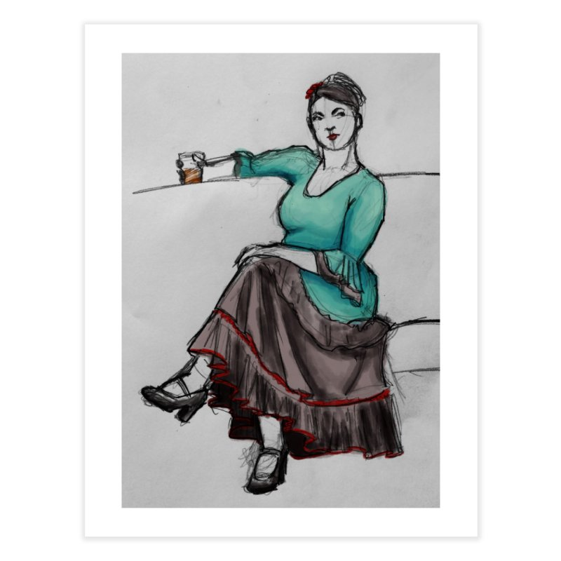 Flamenco Dancer Home Fine Art Print by Marie Angoulvant's Shop