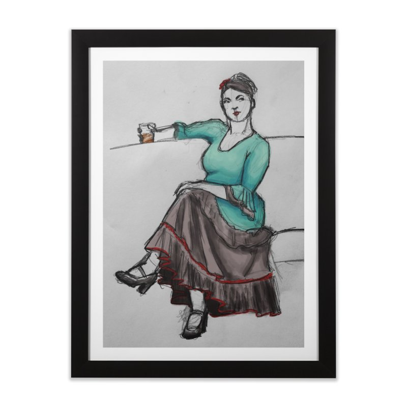 Flamenco Dancer Home Framed Fine Art Print by Marie Angoulvant's Shop