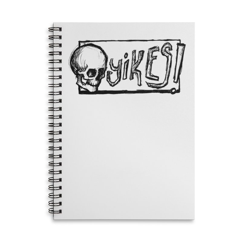 YIKES! Accessories Lined Spiral Notebook by Marie Angoulvant's Shop