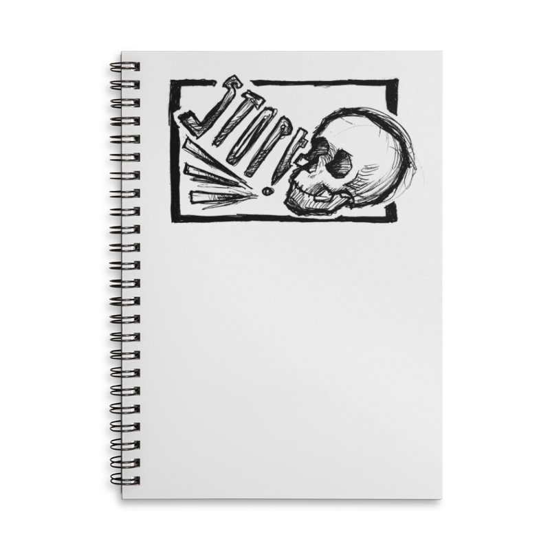 STOP! Accessories Lined Spiral Notebook by Marie Angoulvant's Shop