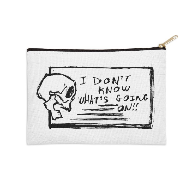I Don't Know What's Going On! Accessories Zip Pouch by Marie Angoulvant's Shop