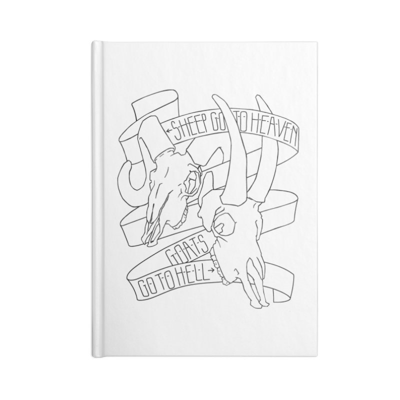 Sheep Go To Heaven Accessories Lined Journal Notebook by Marie Angoulvant's Shop