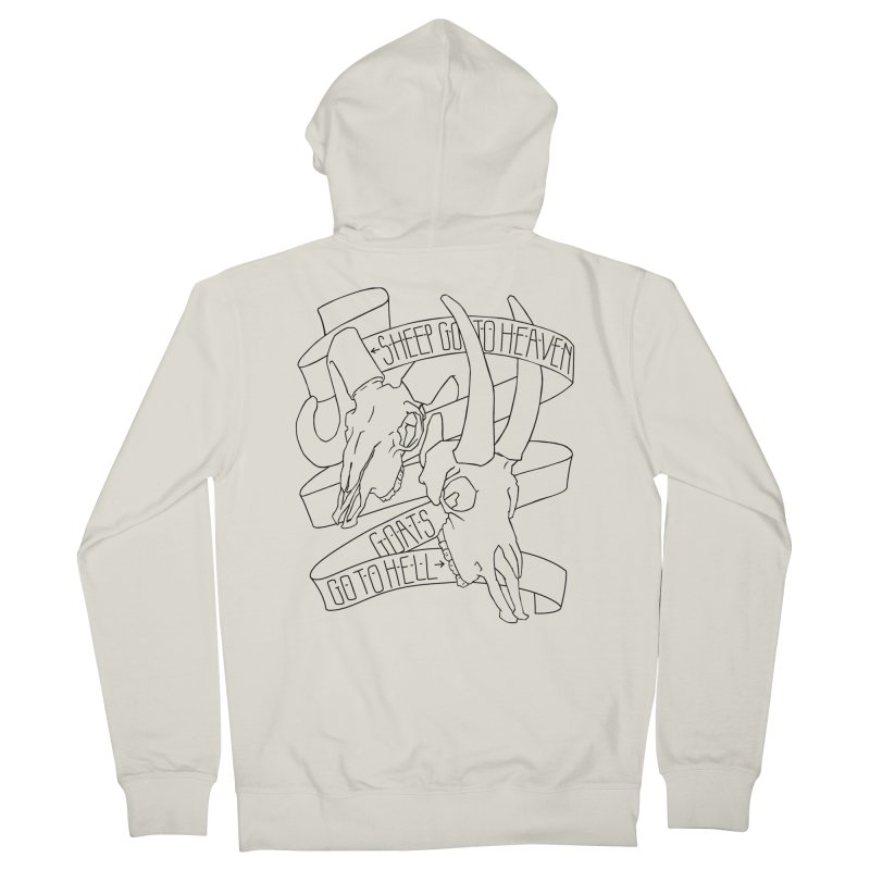 Sheep Go To Heaven Men's French Terry Zip-Up Hoody by Marie Angoulvant's Shop