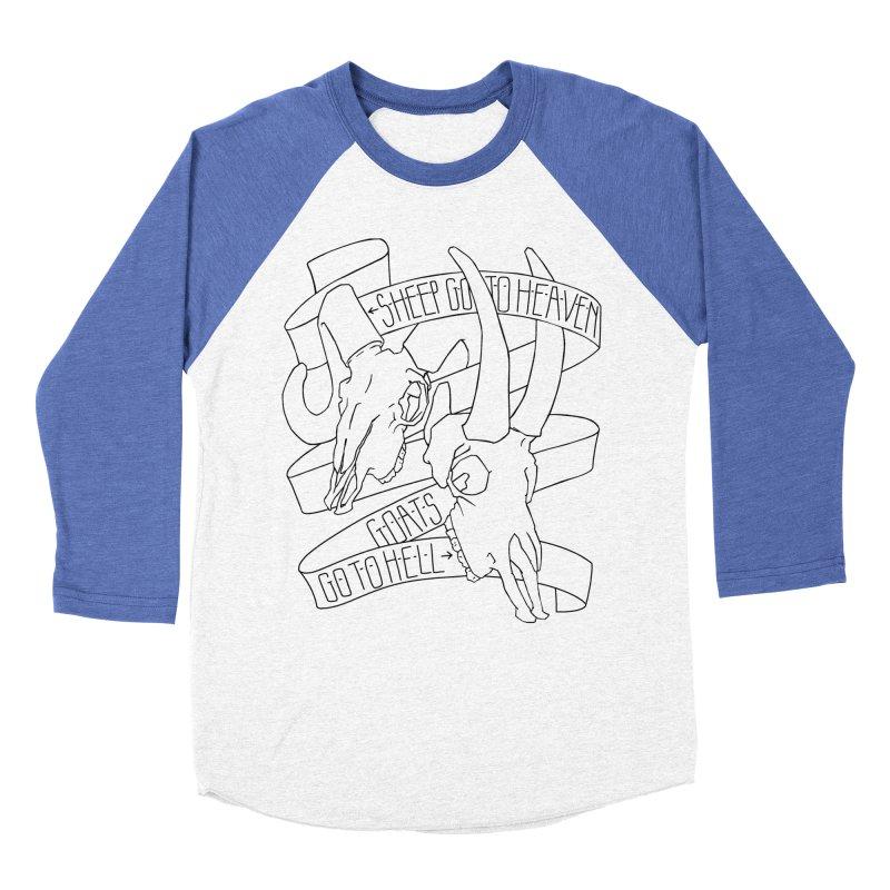 Sheep Go To Heaven Women's Baseball Triblend Longsleeve T-Shirt by Marie Angoulvant's Shop