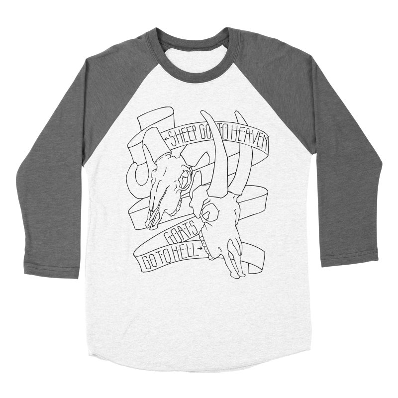 Sheep Go To Heaven Women's Baseball Triblend Longsleeve T-Shirt by Marie Angoulvant's Shop