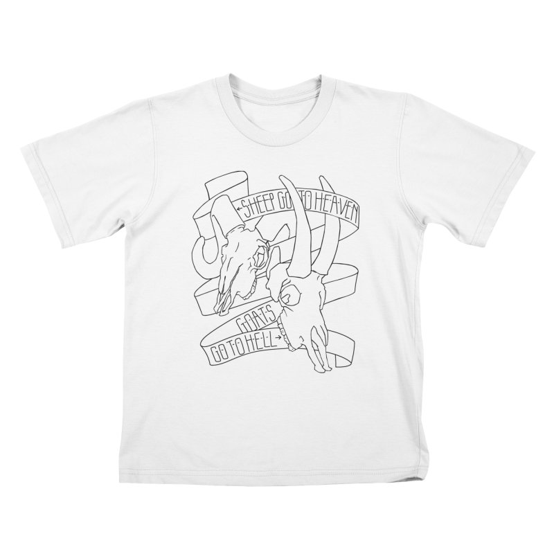 Sheep Go To Heaven Kids T-Shirt by Marie Angoulvant's Shop