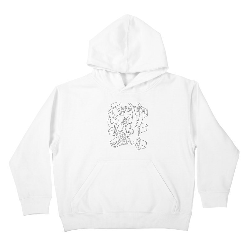 Sheep Go To Heaven Kids Pullover Hoody by Marie Angoulvant's Shop
