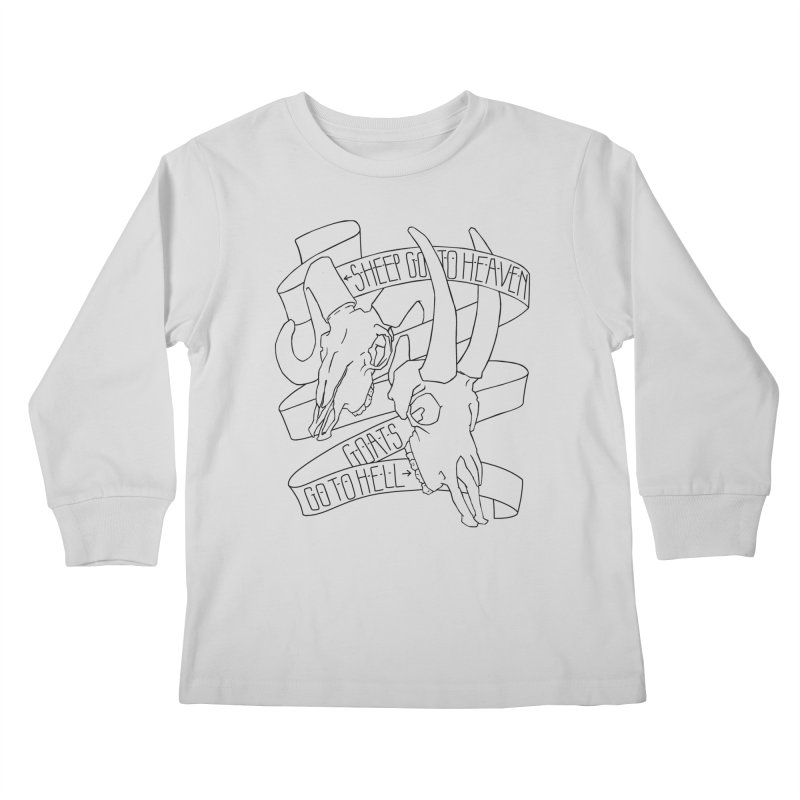 Sheep Go To Heaven Kids Longsleeve T-Shirt by Marie Angoulvant's Shop