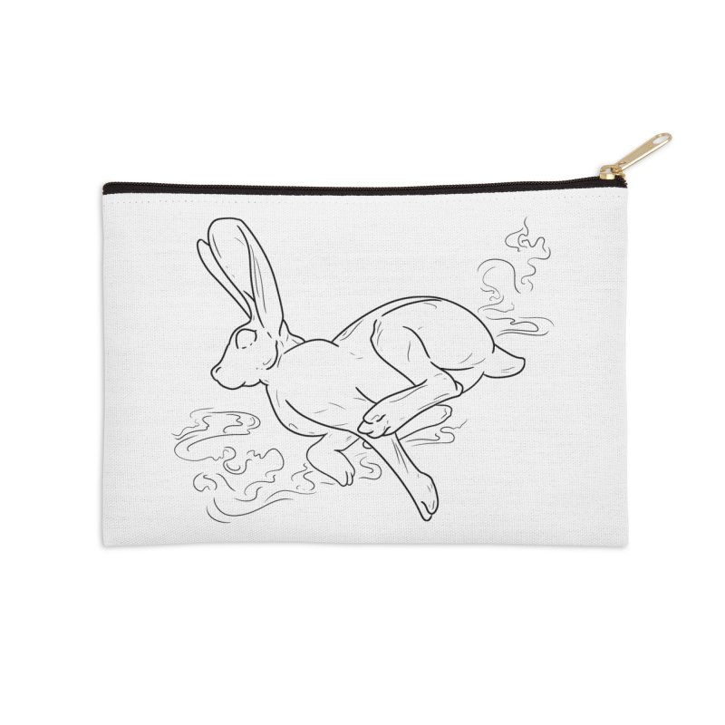 Run Rabbit Run Accessories Zip Pouch by Marie Angoulvant's Shop
