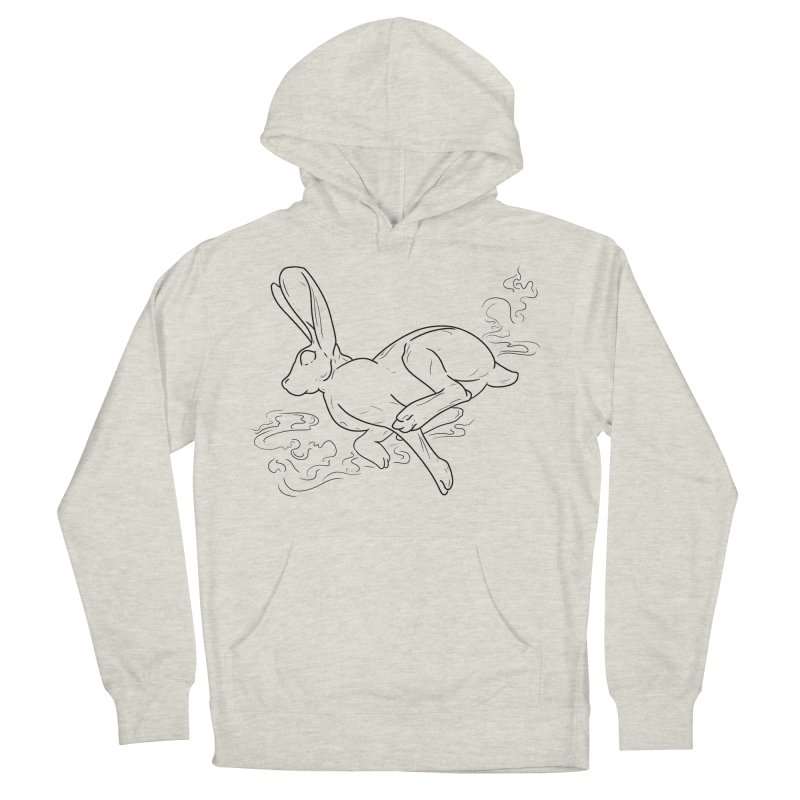 Run Rabbit Run Women's French Terry Pullover Hoody by Marie Angoulvant's Shop