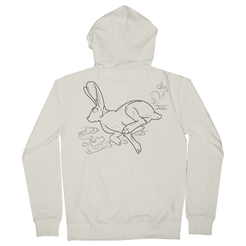 Run Rabbit Run Men's Zip-Up Hoody by Marie Angoulvant's Shop