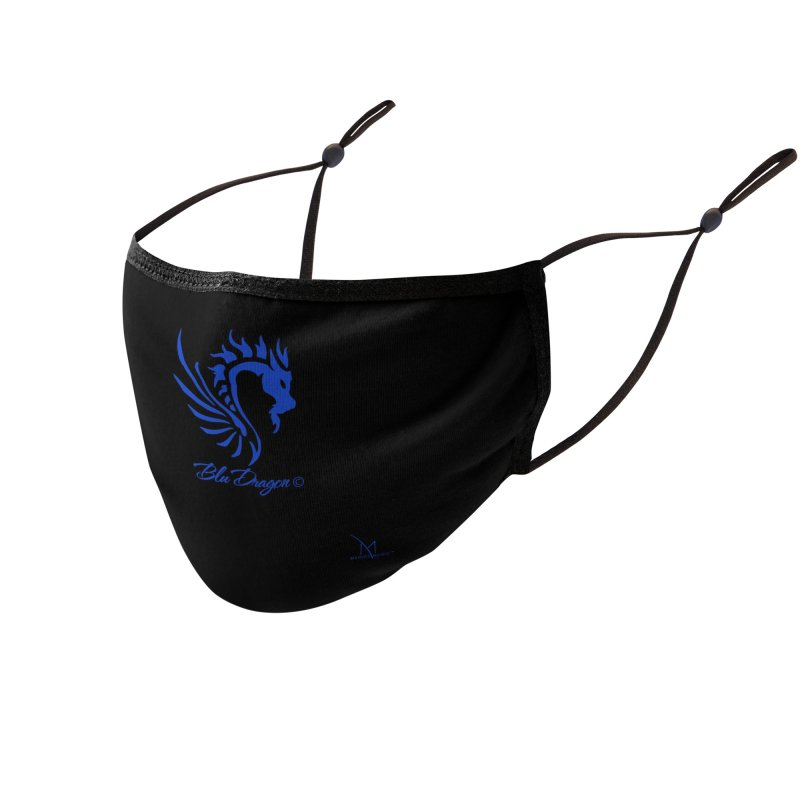 BLU DRAGON (COLLECTION) By MarigzMusic™ Accessories Face Mask by