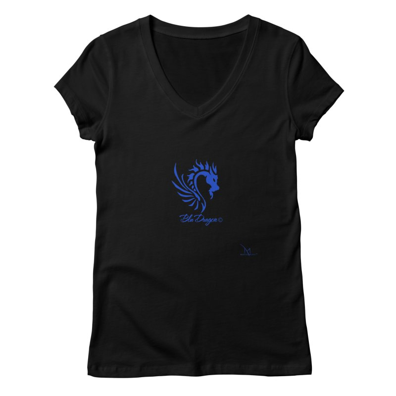 BLU DRAGON (COLLECTION) By MarigzMusic™ Women's V-Neck by