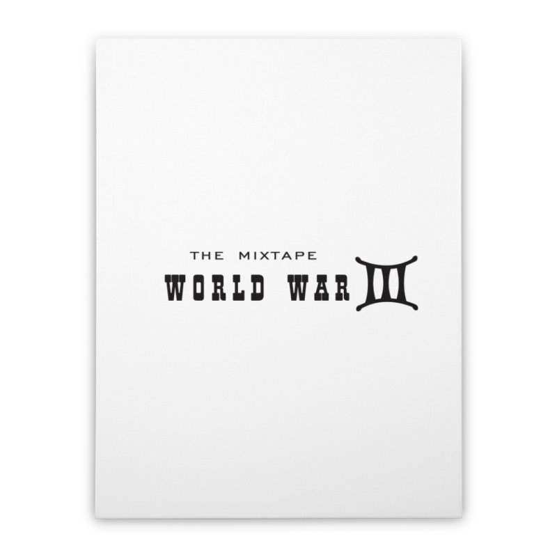 WW3 (BLACK) Home Stretched Canvas by