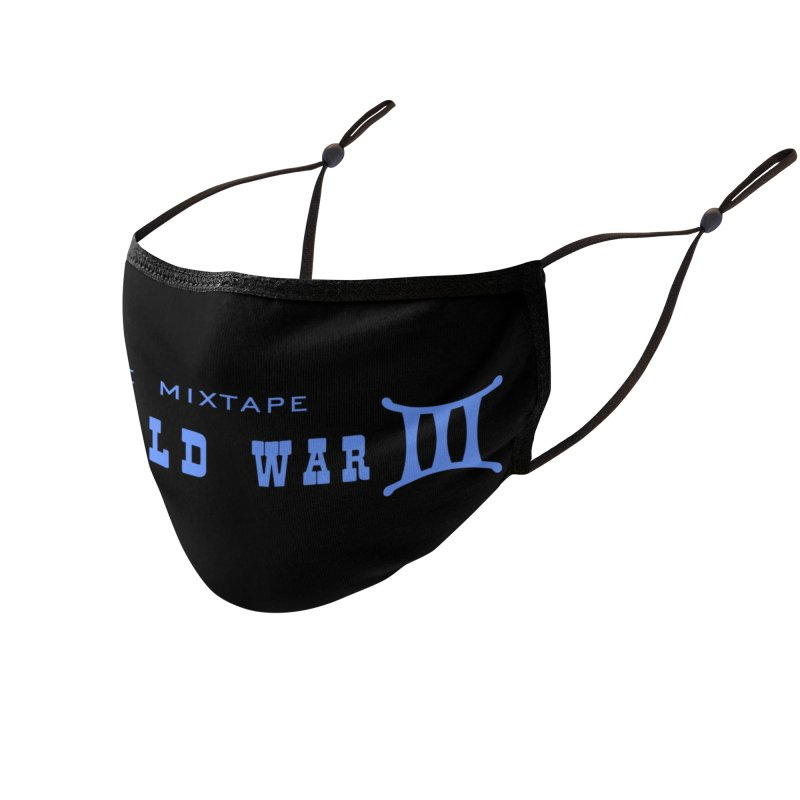 World War 3 (Blue Logo) Accessories Face Mask by