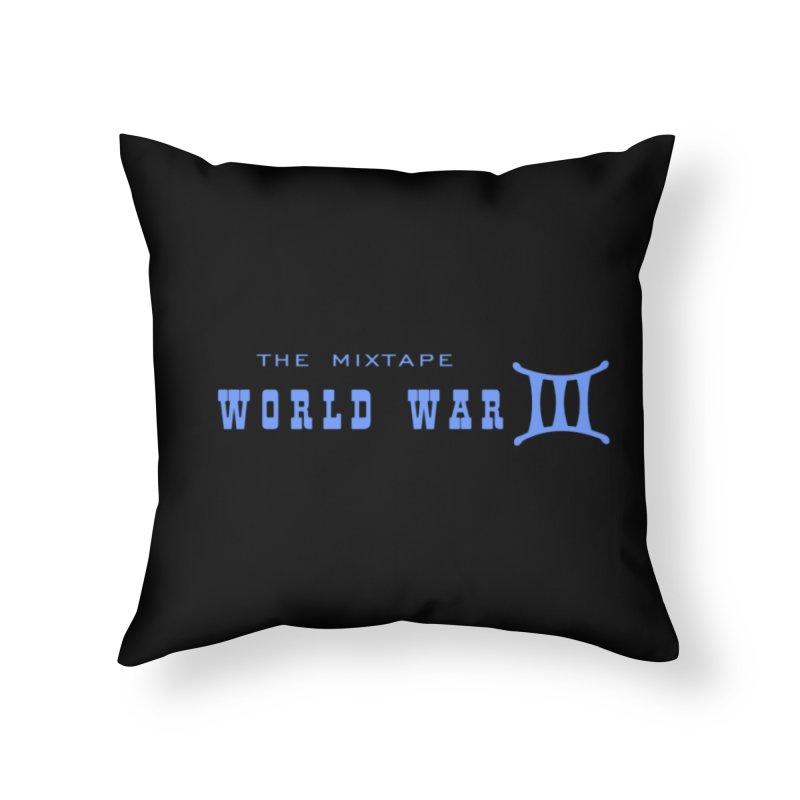 World War 3 (Blue Logo) Home Throw Pillow by