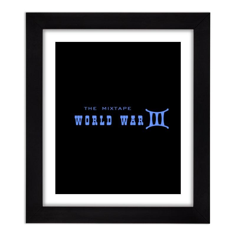 World War 3 (Blue Logo) Home Framed Fine Art Print by