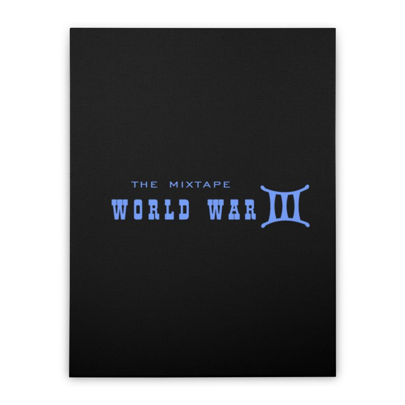 World War 3 (Blue Logo) Home Stretched Canvas by