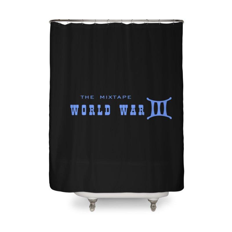 World War 3 (Blue Logo) Home Shower Curtain by