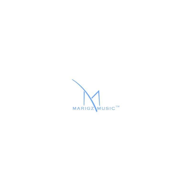Marigz Music™ (Apparel) Blue Home Stretched Canvas by