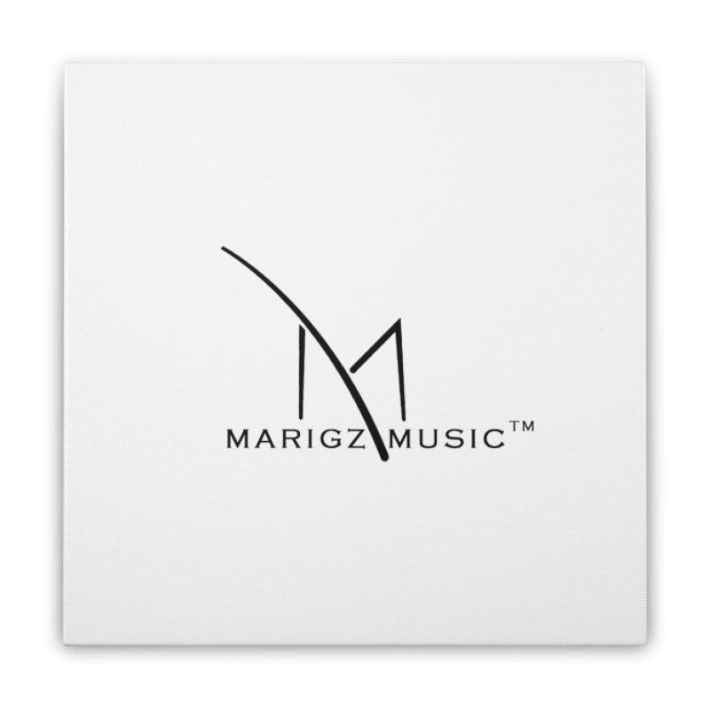 Marigz Music™ (Apparel) Black Home Stretched Canvas by