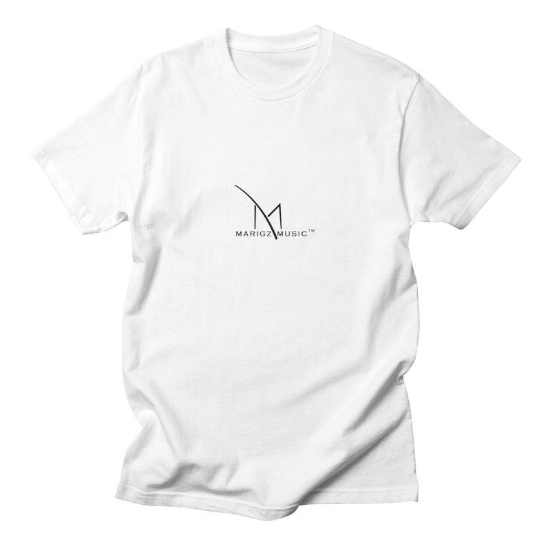 Marigz Music™ (Apparel) Black in Men's Regular T-Shirt White by