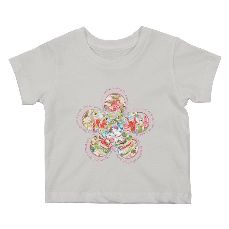 Amelia Tee Kids Baby T-Shirt by marilcha's Artist Shop