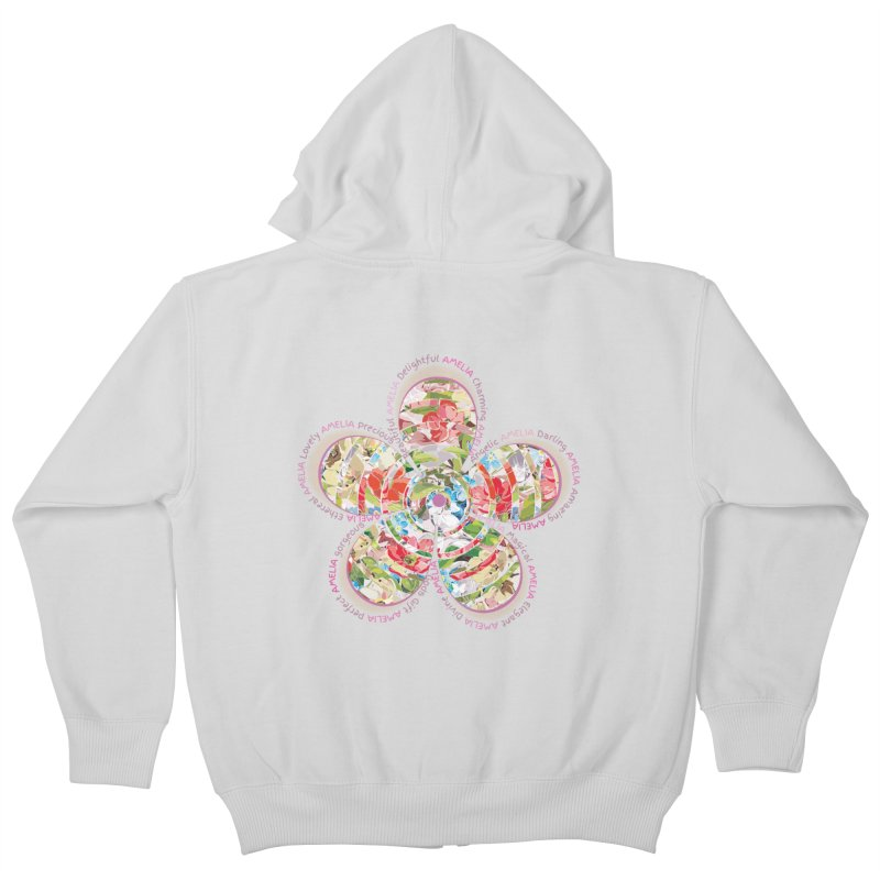 Amelia Tee Kids Zip-Up Hoody by marilcha's Artist Shop