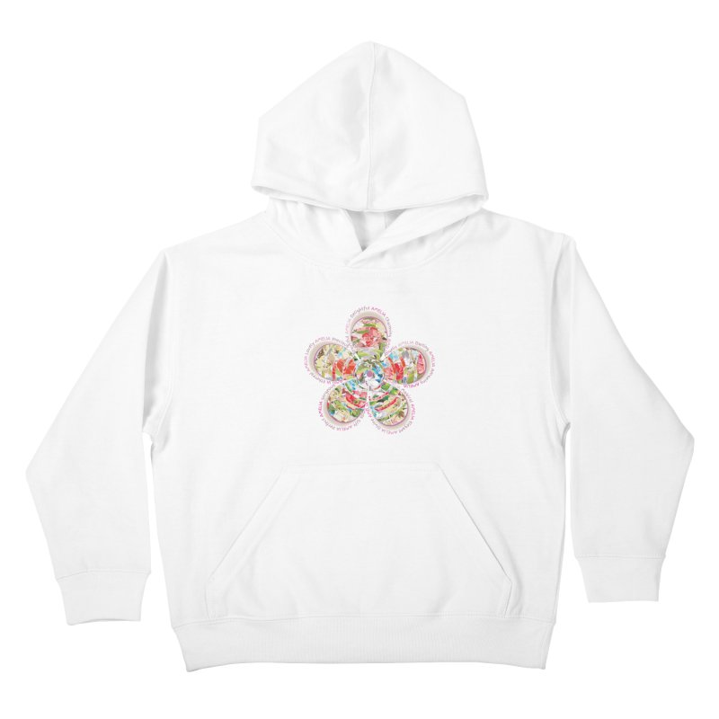 Amelia Tee Kids Pullover Hoody by marilcha's Artist Shop