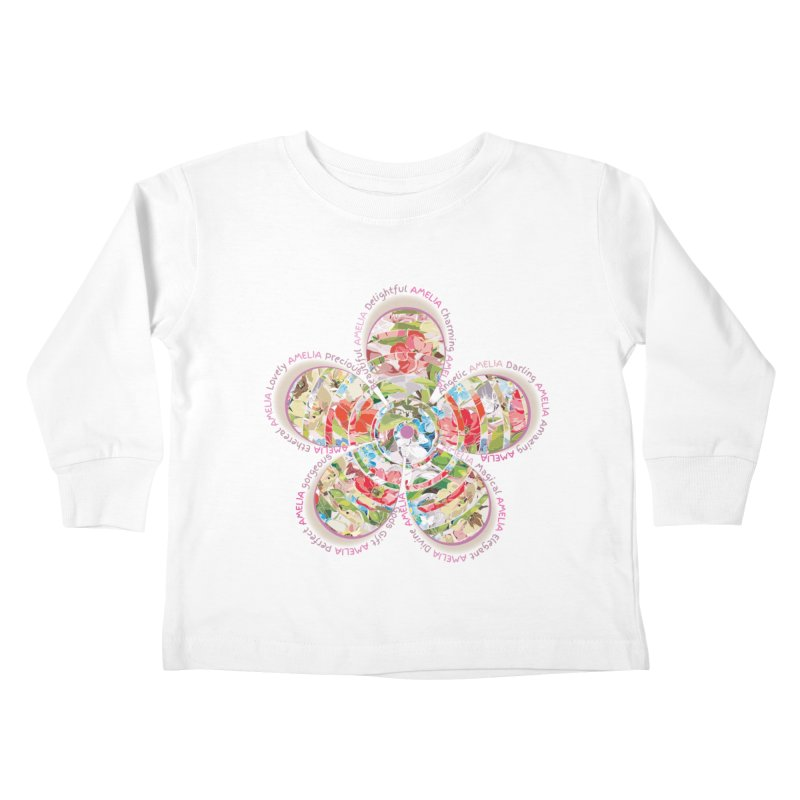 Amelia Tee Kids Toddler Longsleeve T-Shirt by marilcha's Artist Shop