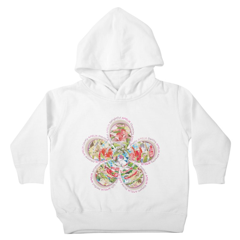 Amelia Tee Kids Toddler Pullover Hoody by marilcha's Artist Shop