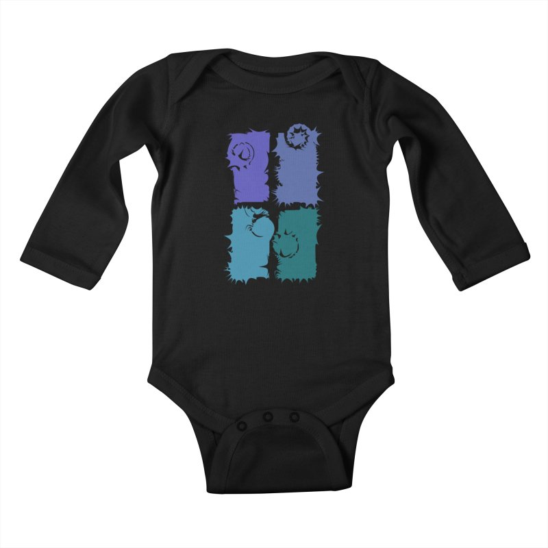 getting pulled into the whirlpool Kids Baby Longsleeve Bodysuit by marilcha's Artist Shop