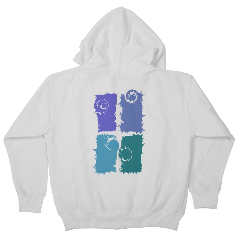 getting pulled into the whirlpool Kids Zip-Up Hoody by marilcha's Artist Shop