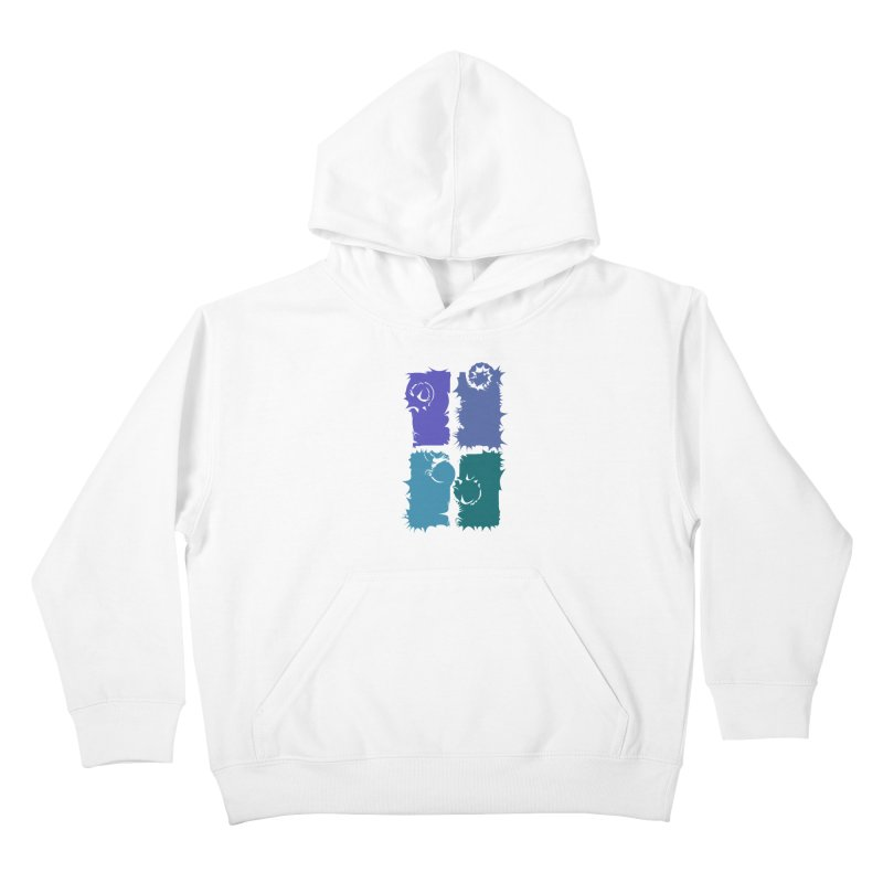getting pulled into the whirlpool Kids Pullover Hoody by marilcha's Artist Shop