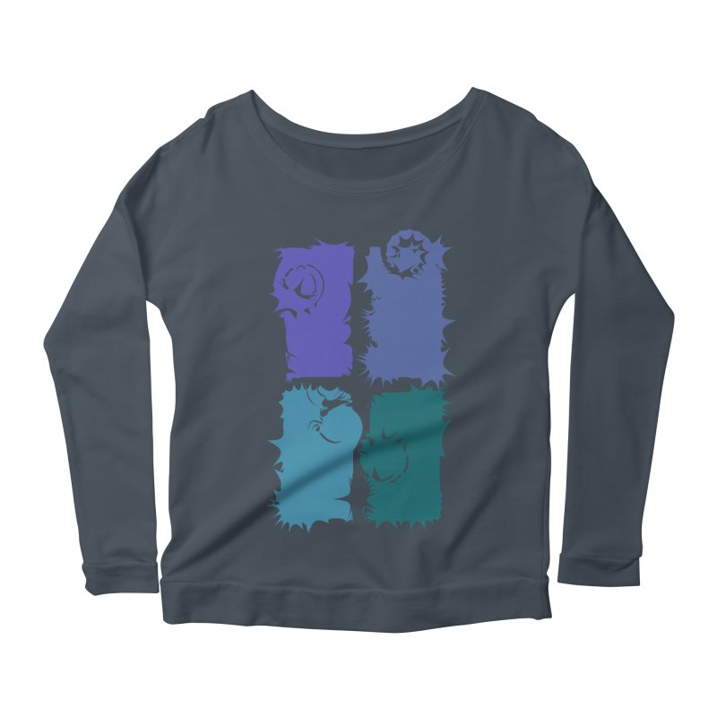getting pulled into the whirlpool Women's Longsleeve Scoopneck  by marilcha's Artist Shop