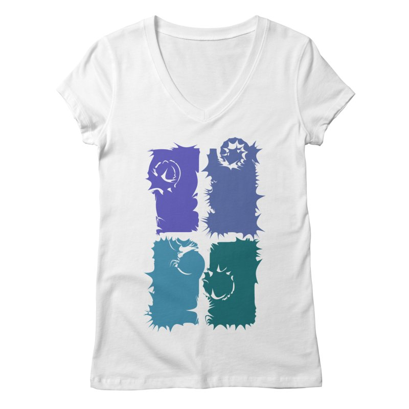getting pulled into the whirlpool Women's V-Neck by marilcha's Artist Shop