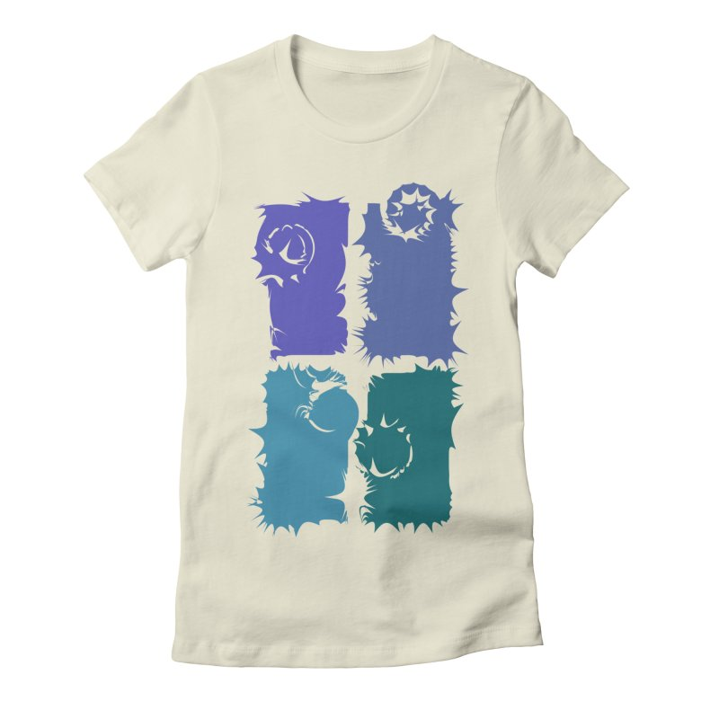 getting pulled into the whirlpool Women's Fitted T-Shirt by marilcha's Artist Shop