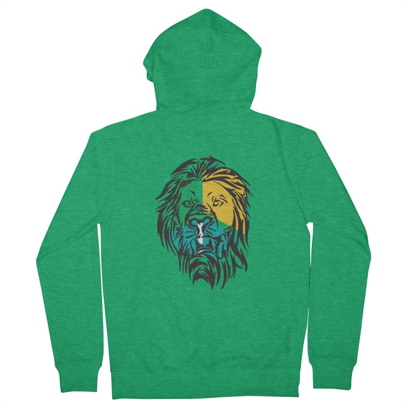 LionFace Men's Zip-Up Hoody by marilcha's Artist Shop