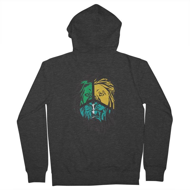 LionFace Men's Zip-Up Hoody by marilcha's Artist Shop