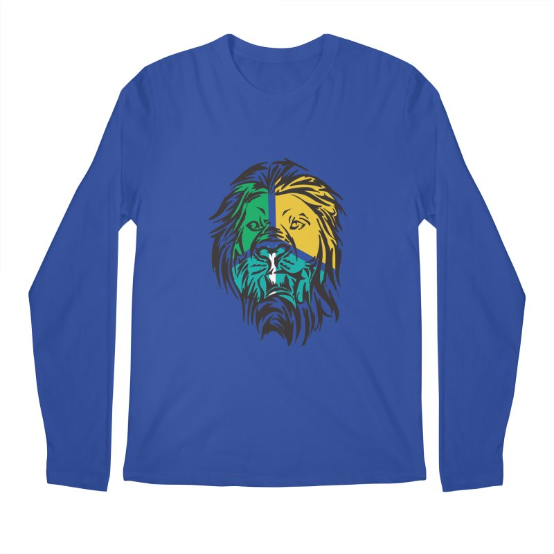 LionFace Men's Longsleeve T-Shirt by marilcha's Artist Shop