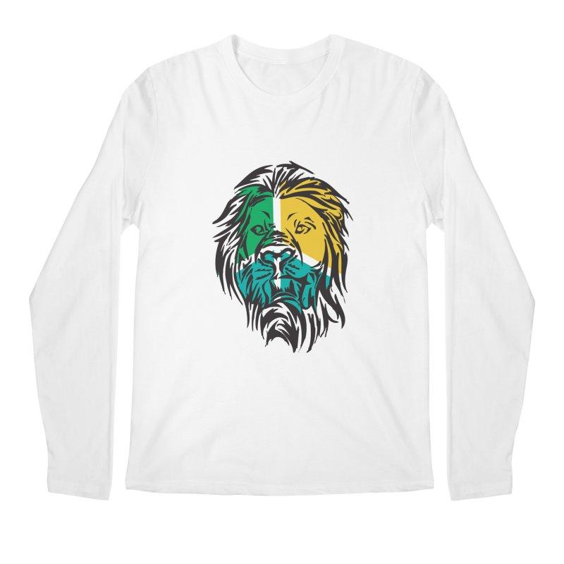 LionFace Men's Longsleeve T-Shirt by marilcha's Artist Shop