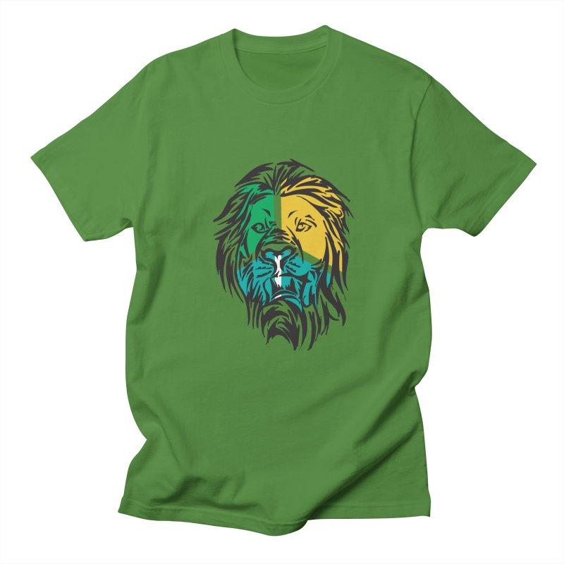 LionFace Men's T-Shirt by marilcha's Artist Shop