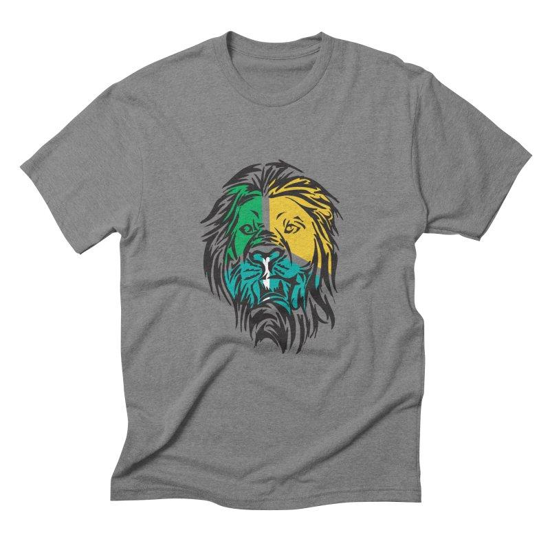 LionFace Men's Triblend T-Shirt by marilcha's Artist Shop