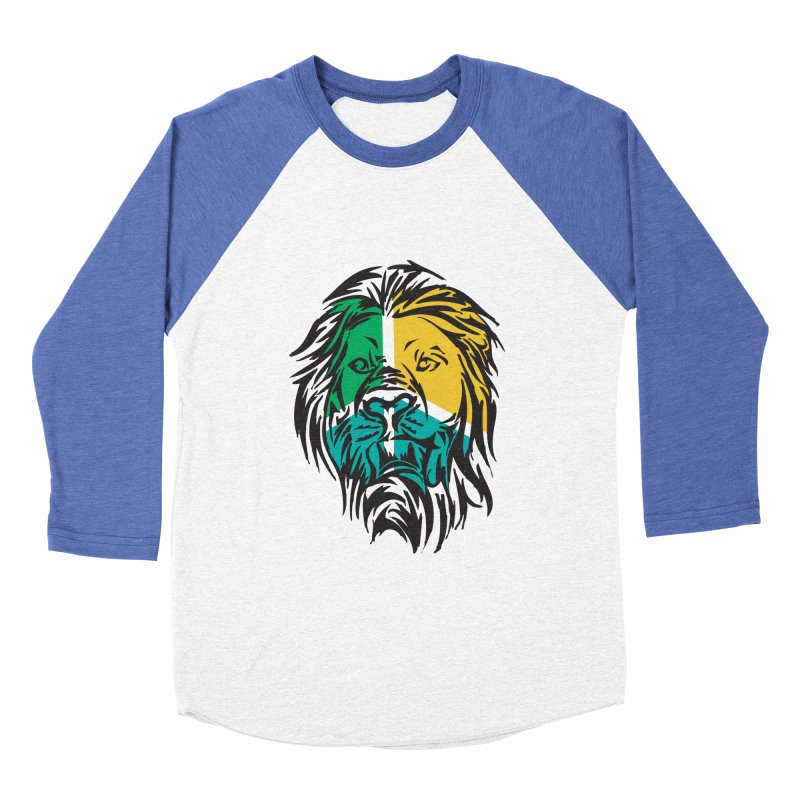 LionFace Women's Baseball Triblend T-Shirt by marilcha's Artist Shop