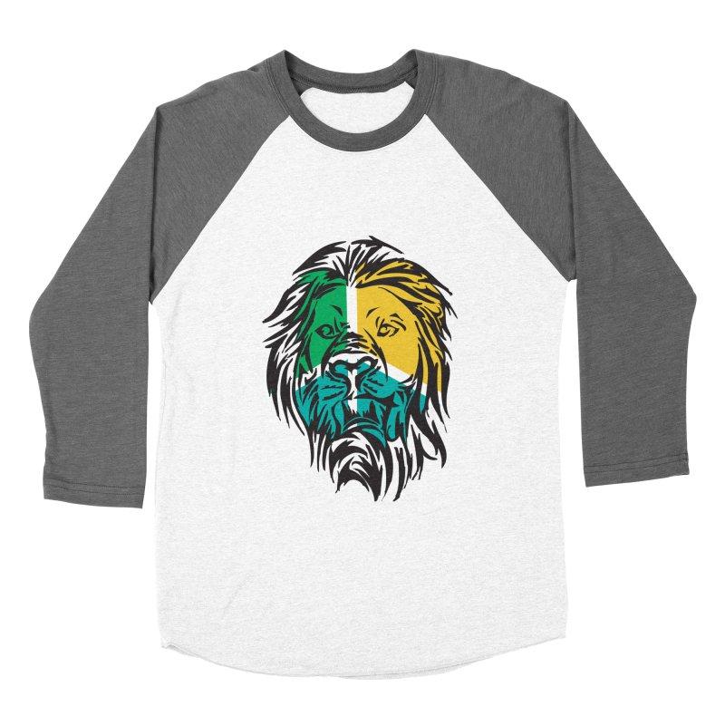 LionFace Men's Baseball Triblend T-Shirt by marilcha's Artist Shop