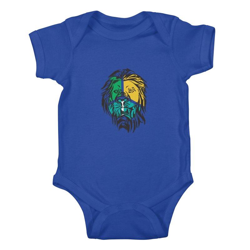 LionFace Kids Baby Bodysuit by marilcha's Artist Shop