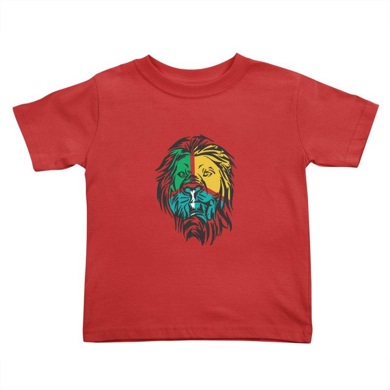 LionFace Kids Toddler T-Shirt by marilcha's Artist Shop